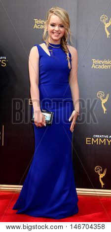LOS ANGELES - SEP 10:  Jade Pettyjohn at the 2016 Creative Arts Emmy Awards - Day 1 - Arrivals at the Microsoft Theater on September 10, 2016 in Los Angeles, CA