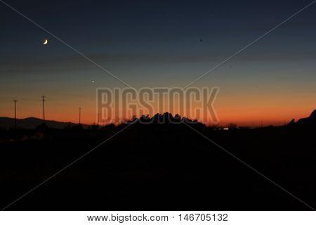 Desert Night Sky off the Californina 15 highway