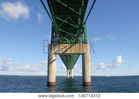 The Mackinac Bridge, suspension bridge spanning the Straits of Mackinac, Michigan