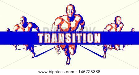 Transition as a Competition Concept Illustration Art 3D Illustration Render