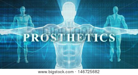 Prosthetics as a Medical Specialty Field or Department 3D Render