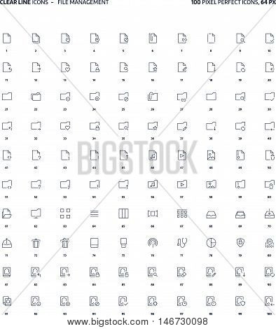 File Management  Clear Line Icons