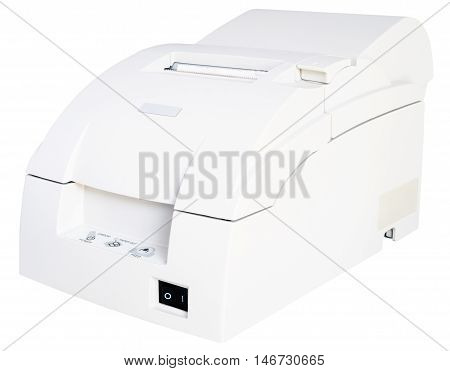 Termo printer isolated on the white background isometric view
