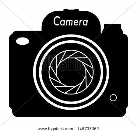 Professional Camera icon or sign, vector illustration