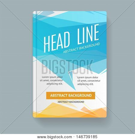 Book Flyer Placard Template with Trendy Abstract Speech Bubble. Vector illustration