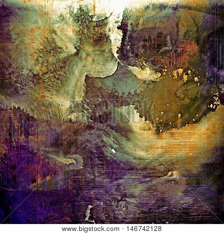 Decorative vintage texture or creative grunge background with different color patterns: yellow (beige); brown; gray; green; blue; purple (violet)