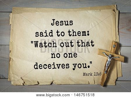 TOP-350. Bible verses from Mark.Jesus said to them: