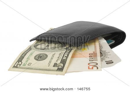 Currency Notes In Wallet