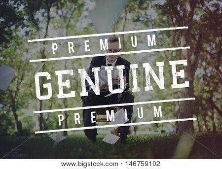 Premium Genuine Business Man Outdoors Concept