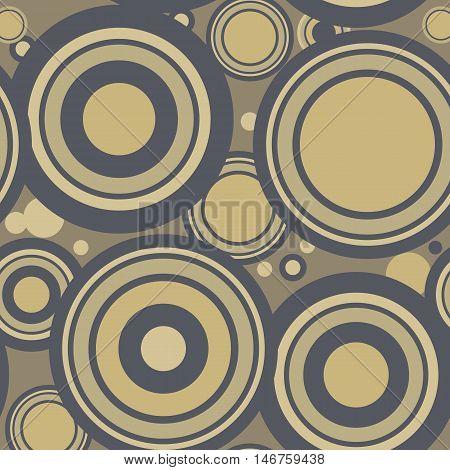 Vector seamless pattern. Modern stylish texture. Repeating geometric circles.