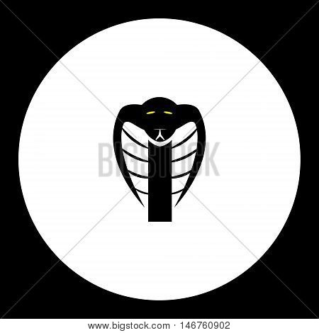 Black Cobra Snake Head Simple Isolated Icon Eps10