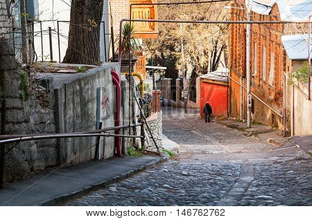 Historical part of Tbilisi Georgia. Streets of the old town