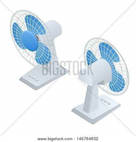 Isometric Fan. Home climate equipment isometric icon. Air Cooling
