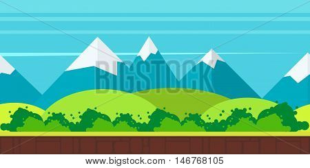 game background flat Style 2d game application. Vector Illustration for your application , project