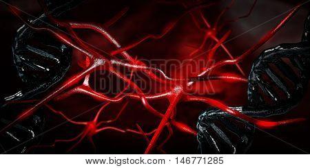 Computer Artwork Of Nerve Cells