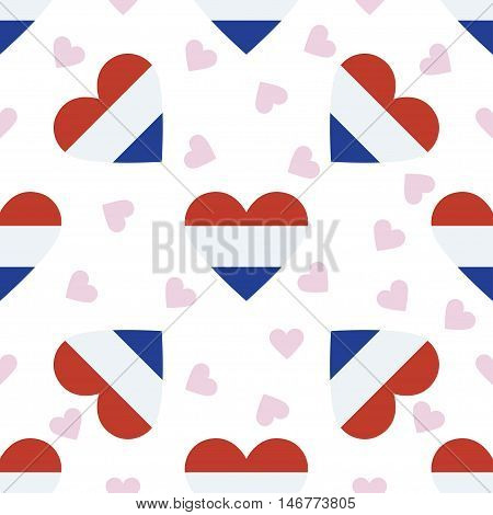 Bonaire, Sint Eustatius And Saba Independence Day Seamless Pattern. Patriotic Background With Countr