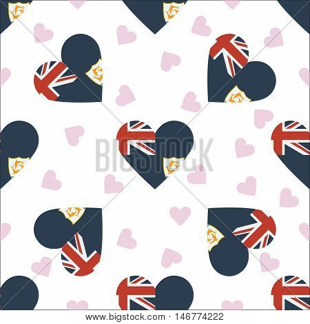 Anguilla Independence Day Seamless Pattern. Patriotic Background With Country National Flag In The S