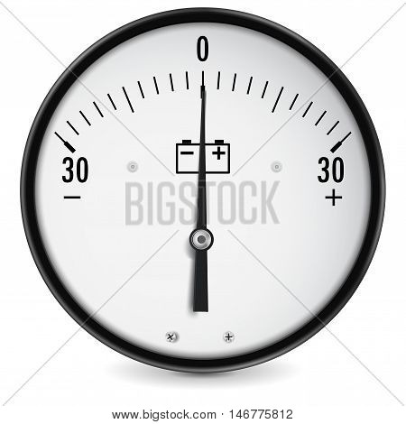 Accumulator charge gauge. Vector illustration isolated on white background