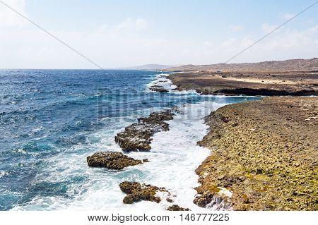 North coast from Aruba island in the Caribbean