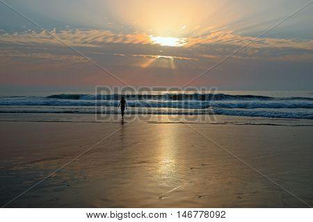 Beautiful sunset at the beach