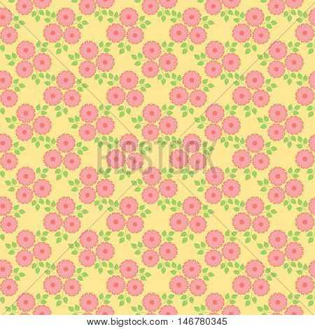 Elegant floral pattern with tiny flowers. Vector.