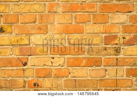 old red brick wall texture. Abstract background empty template.