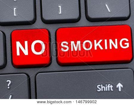 No Smoking Advertising In Closeup