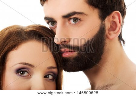 Beautiful young smiling couple.