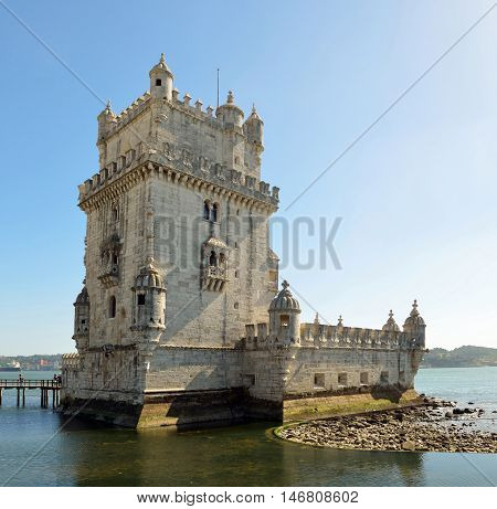 Torre de Bellmen historic fortress in  Lisbon Portugal