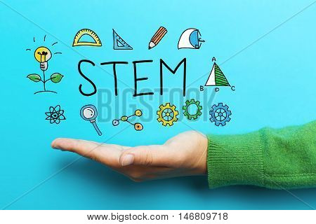 Stem Concept With Hand