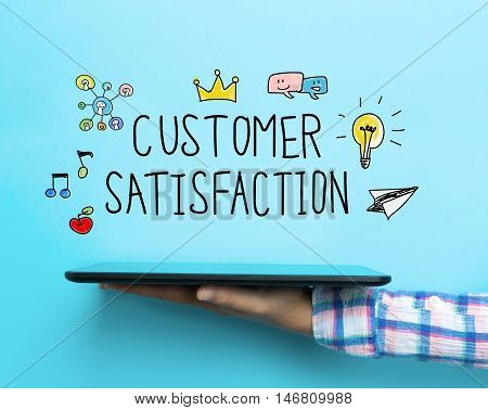 Customer Satisfaction Concept With A Tablet