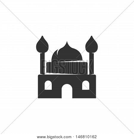 Mosque Icon isolated on a white background. Mosque Logo design vector template. Simple Logotype concept icon. Symbol, sign, pictogram, illustration - stock vector