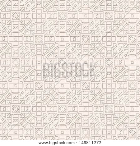 Paper design with shadow. Arabesque illustration. Perforated decoration. Openwork pattern. Vintage ornament. Arabian print. Eastern background. Islamic art. Ethnic wallpaper. Retro backdrop. Vector.