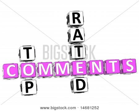 Top Rated Comments Crossword