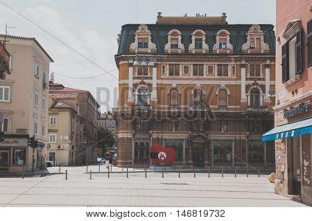 Historical Building In Rijeka, Croatia
