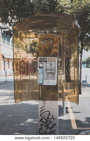 Public Telephone In Rijeka, Croatia