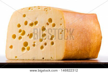 Cheese isolated on white background. Dairy product