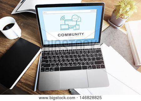 SocialMedia Networking Online Connection Communication Concept