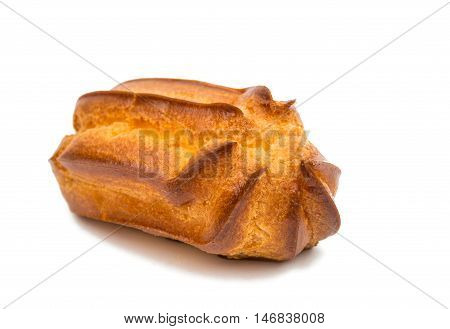 cakes eclairs creamy on a white background