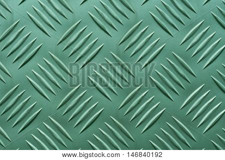 Aluminum plate with diamond shaped structure in green color