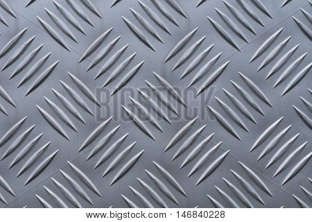 Aluminum plate with diamond shaped structure in silver color
