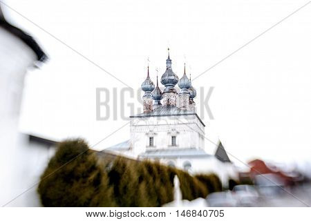 Unique wooden church in winter, Russia - shoot with lensbaby.
