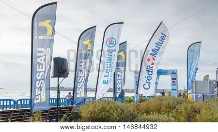 Set Of Advertising Flags