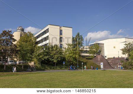 SIEGEN GERMANY - SEP 1 2016: Campus at the University of Siegen. North Rhine Westphalia Germany