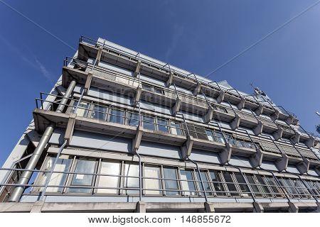 SIEGEN GERMANY - SEP 1 2016: The University of Siegen building. North Rhine Westphalia Germany