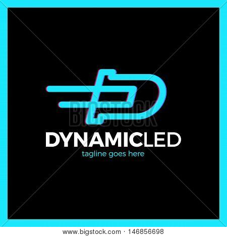 Dynamic Flat Line Vector Icon For Diode Or Led.
