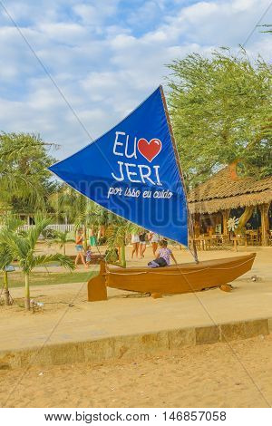 JERICOACOARA, BRAZIL, DECEMBER - 2015 - Landmark square at Jericoacoara Brazil