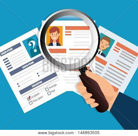human resources recruit search design isolated vector illustration eps 10