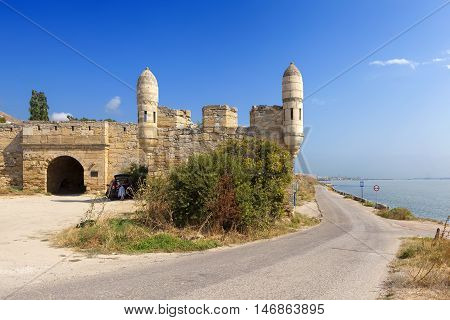 Gates is one of the bastions of the fortress from the floor Yenikale. Kerch. Crimea.