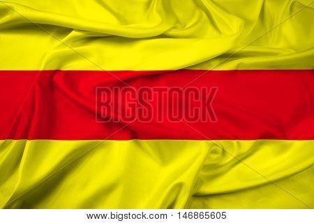 Waving Flag of Pasaje Ecuador, with beautiful satin background